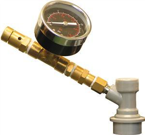 Cornelius Adjustable Pressure Release Valve with Gauge