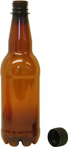 Woodshield PET Beer Bottles (brown, 50cl, 24's) 12 litre