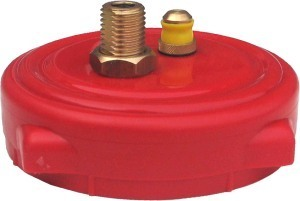 Hambleton Bard 4 ins Cap with Valves (red)