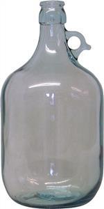 WD Glass Demijohn (clear, Single Handled) 1 gal