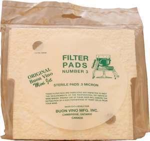 Buon Vino Sterile Pads for Minijet Filter [No.3] (3s)