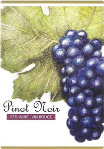 Unbranded Labels Self Adhesive Pinot Noir - Grapes (30s)