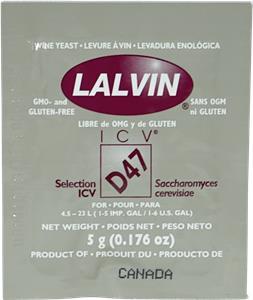 Lalvin Wine Yeast ICV-D47 5 g
