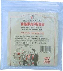 Harris Vinbrite Vinpapers Filter Papers (48s) (fits 1139)