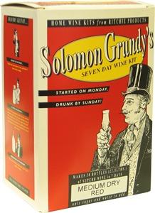 Solomon Grundy Medium Dry Red Wines Kit 30 bottle