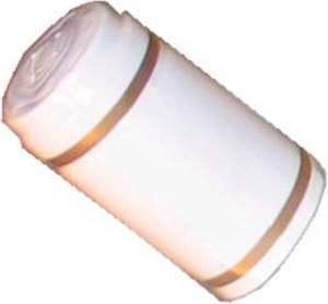 Shrink Caps Shrink Cap [white + gold stripe] (30s)