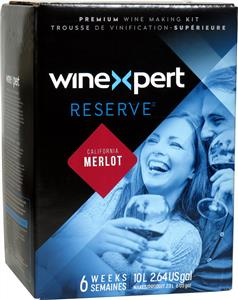 Winexpert Reserve Californian Merlot Wines Kit 30 bottle