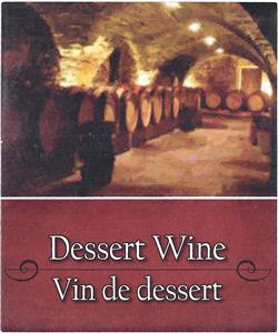 Unbranded Labels Self Adhesive Dessert Wine (30s)