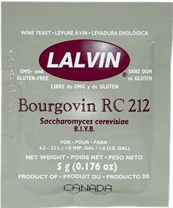 Lalvin Wine Yeast RC212 5 g