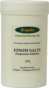 Brupaks Magnesium Sulphate (Epsom Salts) 200g