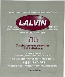Lalvin Wine Yeast 71B 5 g