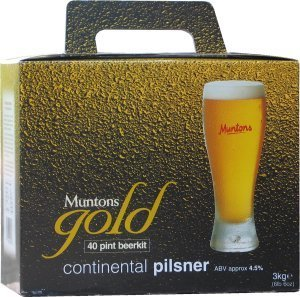 Muntons Gold Continental Pils Beer Kit 3.0 kg
