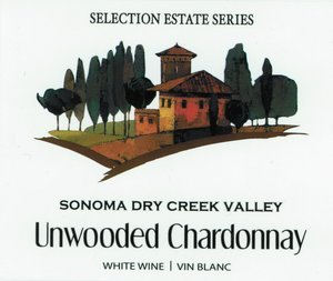 Selection Labels Self Adhesive Sonoma Dry Creek Valley Chardonnay (30s) Label