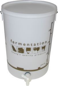 Woodshield Fermentation Bin (bucket) with tap & lid 25 litre