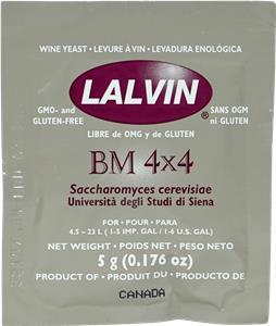 Lalvin Wine Yeast BM4x4 5 g