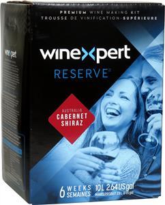 Winexpert Reserve Australian Cabernet Shiraz Wines Kit 30 bottle