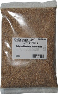 Goldsword Grains Belgian Diastatic Amber Malt 500 g