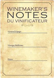 Unbranded Labels Self Adhesive Winemakers notes (30s)