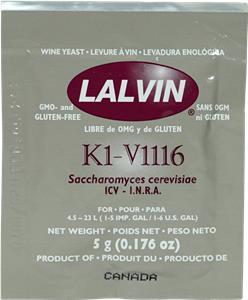 Lalvin Wine Yeast ICV-K1 (V1116) 5 g