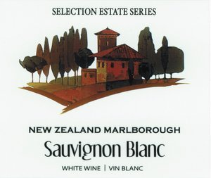 Selection Labels Self Adhesive New Zealand Malborough Sav/Blanc (30s) Label
