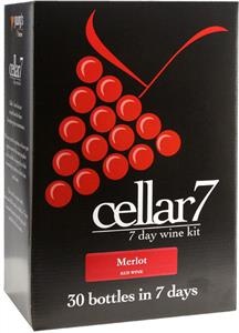 Cellar 7 Merlot Wines Kit 30 bottle