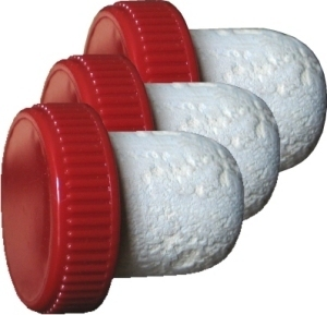 Corks Flanged Plastic Topped Cork [red]  (100s)