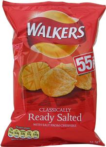 Walkers Ready Salted Crisps (6's) 6 x 32.5g